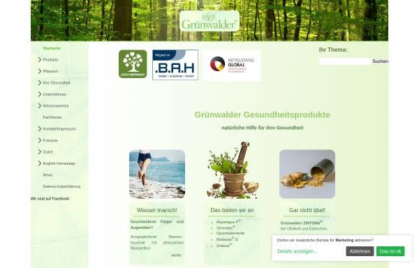 Vorschau von www.gruenwalder.de, Grünwalder GmbH