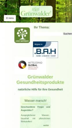 Vorschau der mobilen Webseite www.gruenwalder.de, Grünwalder GmbH