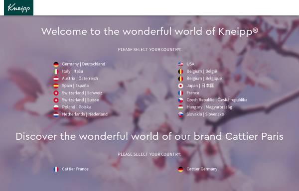 Vorschau von www.kneipp.de, Kneipp-Werke - Kneipp-Mittel-Zentrale GmbH & Co. KG