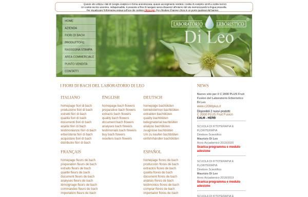 Vorschau von www.bach-flowers.it, Maurizio Di Leo