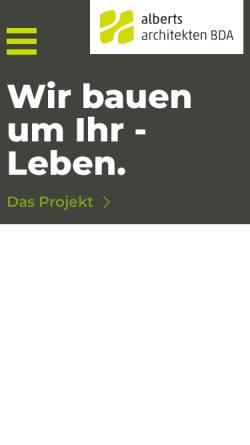 Vorschau der mobilen Webseite www.alberts-architekten.de, Alberts Architekten