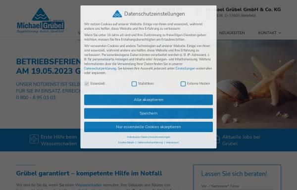 Vorschau von www.gruebel-kg.de, Michael Grübel GmbH & Co. KG - Trocknungsfachbetrieb