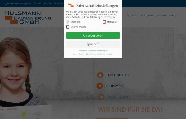 Vorschau von huelsmann-bausanierung.de, Jens Hülsmann, Bausanierung