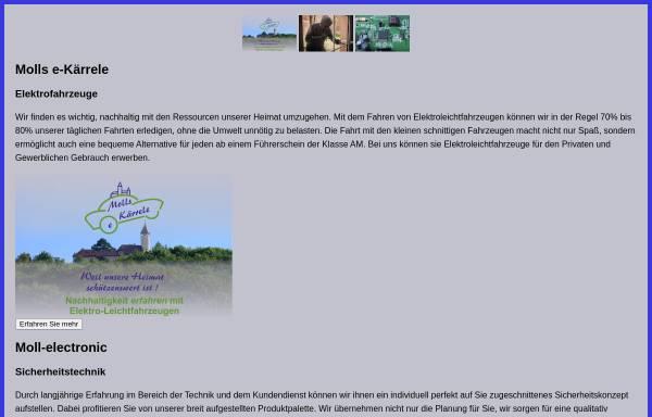 Vorschau von www.moll-electronic.de, Moll-Electronic, Inh. Rosemarie und Klaus-Dieter Moll