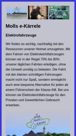Vorschau der mobilen Webseite www.moll-electronic.de, Moll-Electronic, Inh. Rosemarie und Klaus-Dieter Moll