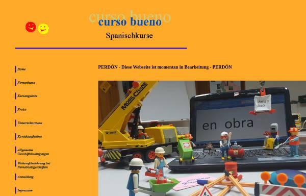 Vorschau von www.curso-bueno.de, Spanisch in Heilbronn
