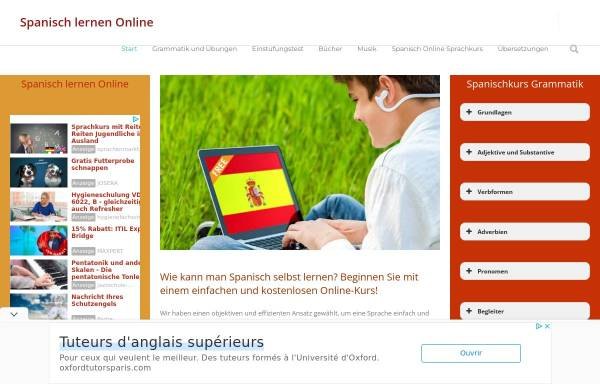 Vorschau von www.online-spanisch.com, Spanisch lernen Online