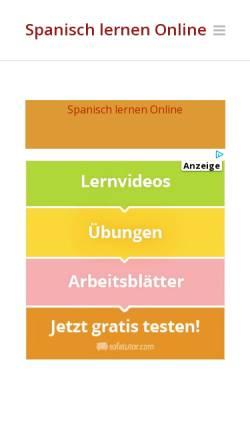 Vorschau der mobilen Webseite www.online-spanisch.com, Spanisch lernen Online