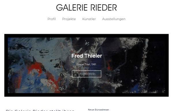 Vorschau von galerierieder.de, Galerie Rieder