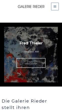 Vorschau der mobilen Webseite galerierieder.de, Galerie Rieder
