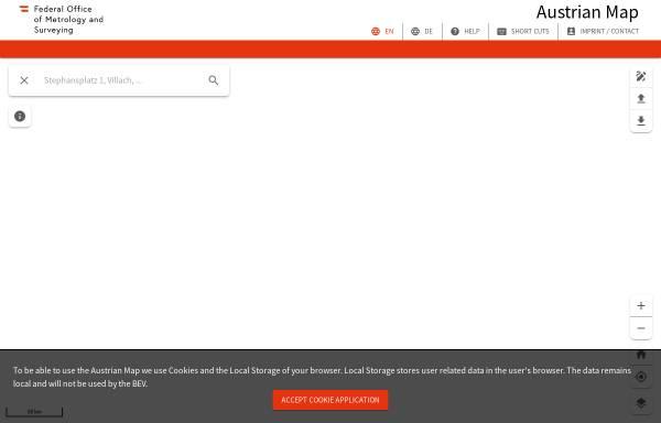 Vorschau von www.austrianmap.at, Austrian Map online