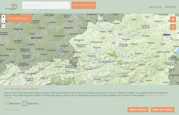 Vorschau von www.plan.at, Landkarten