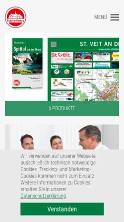 Vorschau der mobilen Webseite www.staedte-verlag.at, Städte-Verlag - Stadtpläne und Freizeitkarten online.