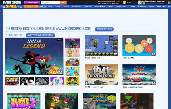 Vorschau von www.microspiele.com, MicroSpiele.com