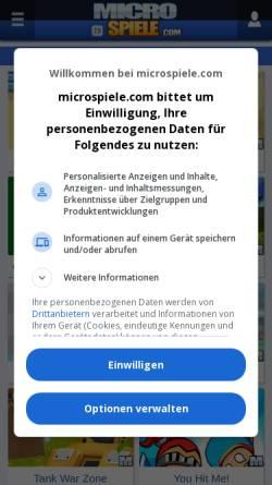 Vorschau der mobilen Webseite www.microspiele.com, MicroSpiele.com