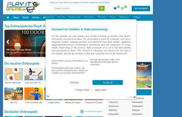 Vorschau von www.playit-online.de, Playit-Online