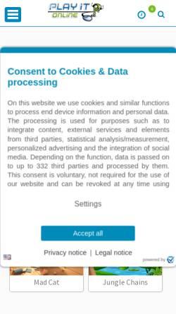 Vorschau der mobilen Webseite www.playit-online.de, Playit-Online