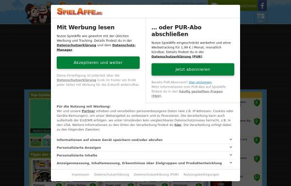 Vorschau von www.spielaffe.de, Spielaffe.de