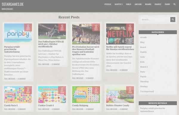 Vorschau von www.5stargames.de, 5 Star Games