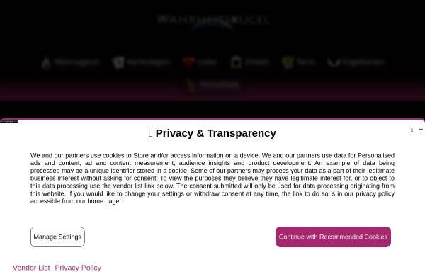 Vorschau von www.wahrheitskugel.de, Wahrheitskugel