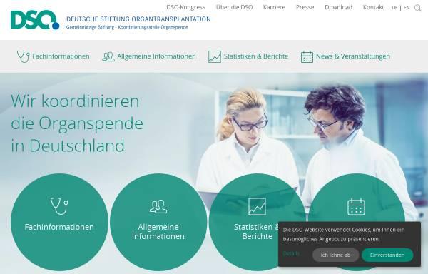 Vorschau von www.dso.de, DSO - Deutsche Stiftung Organtransplantation