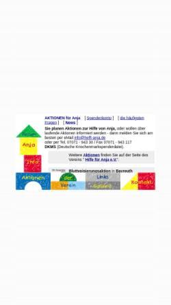 Vorschau der mobilen Webseite www.helft-anja.de, Hilfe für Anja