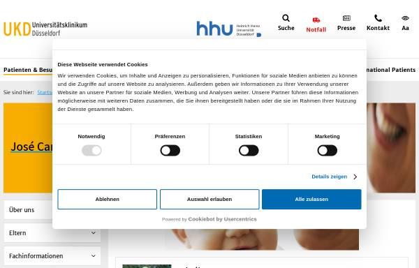Vorschau von www.stammzellbank.de, José Carreras Stammzellbank Düsseldorf