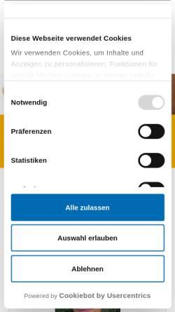 Vorschau der mobilen Webseite www.stammzellbank.de, José Carreras Stammzellbank Düsseldorf