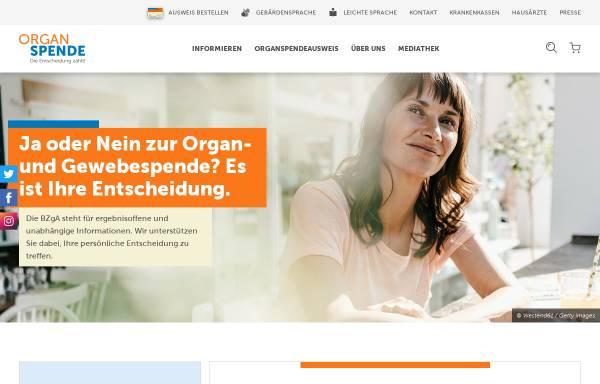 Vorschau von www.organspende-info.de, Organspende schenkt Leben