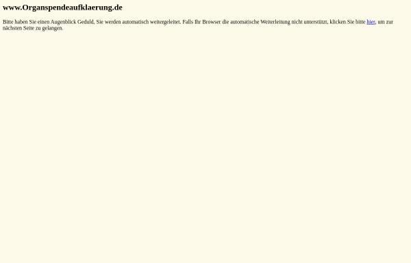 Vorschau von www.organspendekampagne.de, Organspendekampagne.de