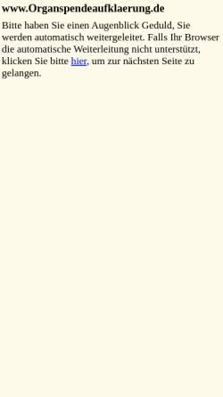 Vorschau der mobilen Webseite www.organspendekampagne.de, Organspendekampagne.de