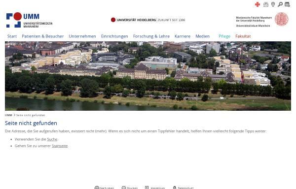 Vorschau von www.umm.de, Transplantationszentrum Mannheim