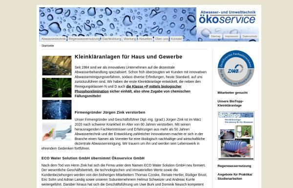 Vorschau von www.oekoservice.com, Abwasser- und Umwelttechnik Ökoservice GmbH