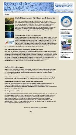 Vorschau der mobilen Webseite www.oekoservice.com, Abwasser- und Umwelttechnik Ökoservice GmbH