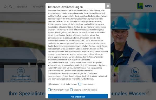 Vorschau von www.aws-gw.de, AWS Abwassersysteme GmbH