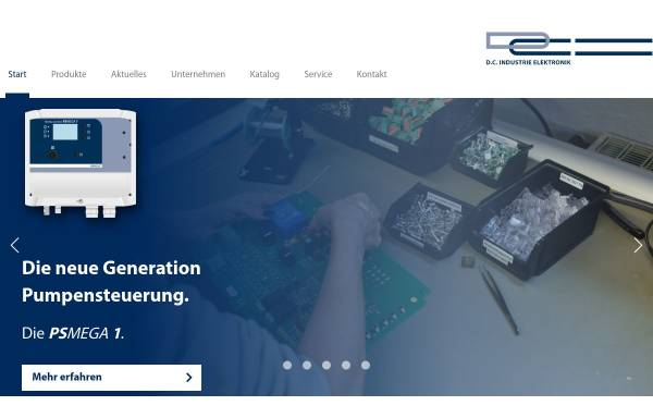 Vorschau von www.dc-elektronik.de, D.C. Industrie Elektronik GmbH