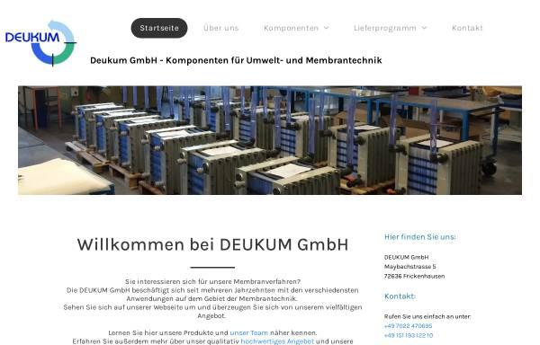 Vorschau von www.deukum.de, DEUKUM Komponenten für Umwelt- und Membrantechnik, Inh. Dipl. Chem. Ing. (FH) Andreas Deuschle