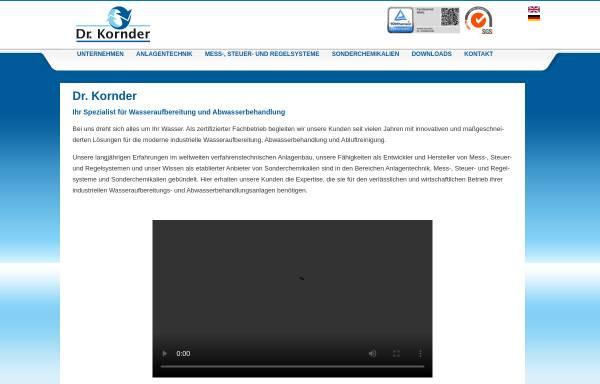 Vorschau von www.dr-kornder.de, Dr. Kornder GmbH & Co. KG