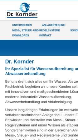 Vorschau der mobilen Webseite www.dr-kornder.de, Dr. Kornder GmbH & Co. KG