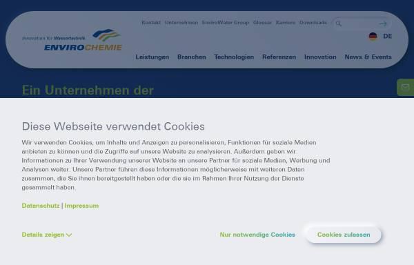 Vorschau von www.enviro-chemie.de, Enviro-Chemie GmbH Wasser und Abwassertechnik