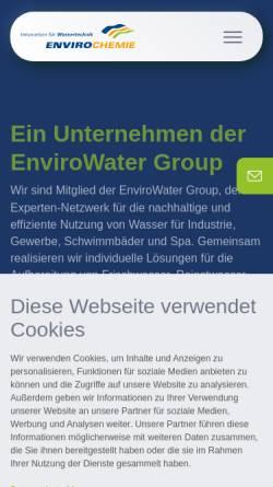 Vorschau der mobilen Webseite www.enviro-chemie.de, Enviro-Chemie GmbH Wasser und Abwassertechnik