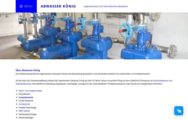 Vorschau von www.abwasser-koenig.de, Erwin König Abwassertechnik