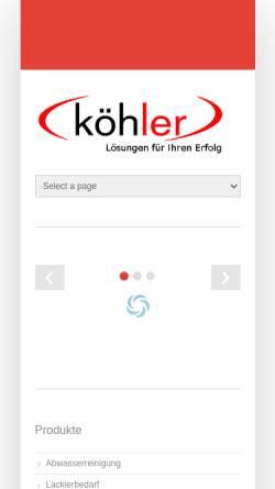 Vorschau der mobilen Webseite www.technologie-systeme.de, Köhler Technologie Systeme GmbH & Co. KG, Inh. Klaus Köhler