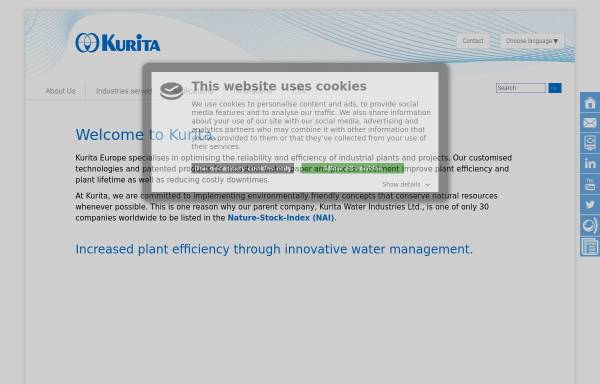 Vorschau von www.kurita.eu, Kurita Europe GmbH