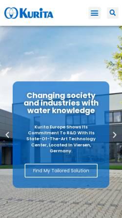 Vorschau der mobilen Webseite www.kurita.eu, Kurita Europe GmbH