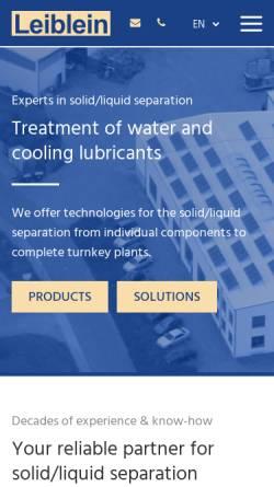 Vorschau der mobilen Webseite www.leiblein.com, Leiblein GmbH