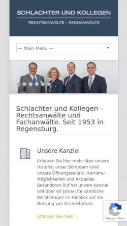 Vorschau der mobilen Webseite www.schlachter-kollegen.de, Schlachter & Kollegen