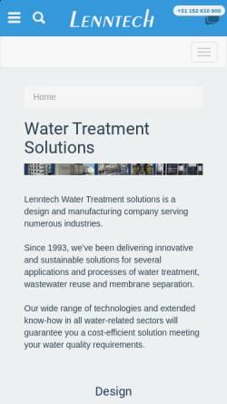 Vorschau der mobilen Webseite www.lenntech.com, Lenntech Water- & Luchtbehandeling Holding B.V.