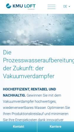 Vorschau der mobilen Webseite www.loft-gmbh.de, LOFT Anlagenbau und Beratung GmbH