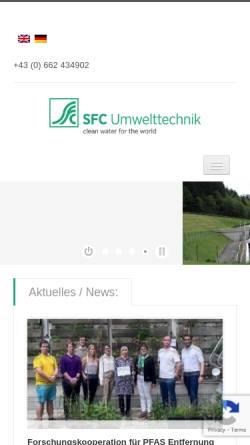 Vorschau der mobilen Webseite www.sfcu.at, SFC Schueffl & Forsthuber Consulting